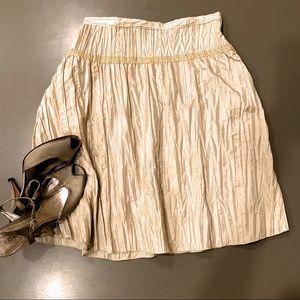 Lush skirt metallic gold pleated